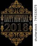 happy new year art design... | Shutterstock .eps vector #749233075