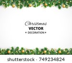 winter holiday background.... | Shutterstock .eps vector #749234824