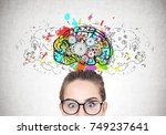 close up portrait of a young... | Shutterstock . vector #749237641
