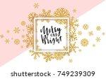 elegant merry christmas... | Shutterstock .eps vector #749239309