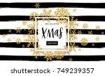 elegant merry christmas... | Shutterstock .eps vector #749239357