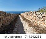 path to the sea in malta | Shutterstock . vector #749242291