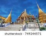 temple of the emerald buddha ... | Shutterstock . vector #749244571
