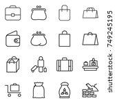 thin line icon set   portfolio  ... | Shutterstock .eps vector #749245195