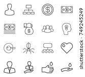 thin line icon set   man ... | Shutterstock .eps vector #749245249