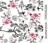 seamless floral pattern with...   Shutterstock . vector #749246281