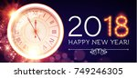 happy new 2018 year background... | Shutterstock .eps vector #749246305