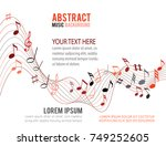 colorfull music notes on a... | Shutterstock .eps vector #749252605
