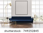 white living room interior with ... | Shutterstock . vector #749252845