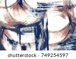 abstract acrylic creative... | Shutterstock . vector #749254597
