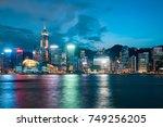 victoria harbour  hong kong...   Shutterstock . vector #749256205