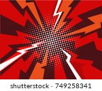 comic book explosion ray... | Shutterstock .eps vector #749258341