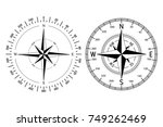 compass windrose. vector... | Shutterstock .eps vector #749262469