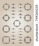 a huge rosette wicker border... | Shutterstock .eps vector #749265235
