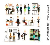 vector illustration of business ... | Shutterstock .eps vector #749266135