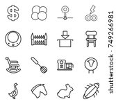 thin line icon set   dollar ... | Shutterstock .eps vector #749266981