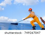 engineering working cleaning... | Shutterstock . vector #749267047