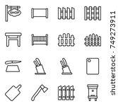 thin line icon set   shop... | Shutterstock .eps vector #749273911