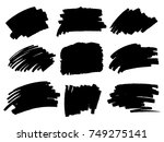 vector black paint  ink brush... | Shutterstock .eps vector #749275141