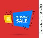 ultimate sale banner template... | Shutterstock .eps vector #749276431