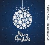 christmas decoration of... | Shutterstock .eps vector #749276557
