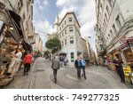 istanbul  turkey  october 10 ... | Shutterstock . vector #749277325