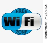 wifi zone logo on isolate... | Shutterstock .eps vector #749278765