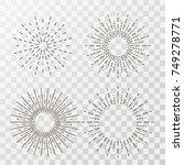 vintage sunburst vector on... | Shutterstock .eps vector #749278771