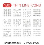 set of thin line icons... | Shutterstock .eps vector #749281921