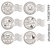 halloween stamp | Shutterstock .eps vector #749287999