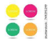 grunge circle abstract logo...   Shutterstock .eps vector #749291299