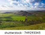 view from the top of oblik hill.... | Shutterstock . vector #749293345