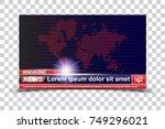 banner breaking news template... | Shutterstock .eps vector #749296021