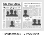 Paper tabloid newspaper vector layout. Editorial news template. Editorial news newspaper, paper tabloid page illustration | Shutterstock vector #749296045