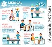 healthcare vector infographics... | Shutterstock .eps vector #749296291