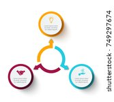 business data visualization.... | Shutterstock .eps vector #749297674