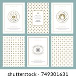 merry christmas greeting cards... | Shutterstock .eps vector #749301631