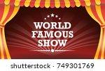 circus poster vector. circus... | Shutterstock .eps vector #749301769