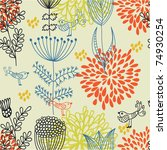 floral seamless pattern in...   Shutterstock .eps vector #74930254