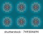 raster illustration. flat lay.... | Shutterstock . vector #749304694