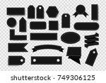 vector set of realistic... | Shutterstock .eps vector #749306125