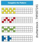education logic game for... | Shutterstock .eps vector #749307241