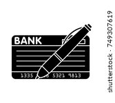 bank check icon | Shutterstock .eps vector #749307619