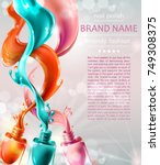 vector realistic advertising... | Shutterstock .eps vector #749308375