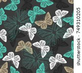 seamless pattern with colored... | Shutterstock .eps vector #749310205