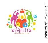 original logo design with happy ... | Shutterstock .eps vector #749311627