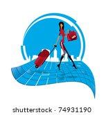 illustration fashion shopping... | Shutterstock .eps vector #74931190