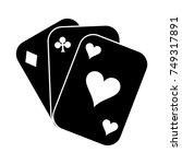 poker icon | Shutterstock .eps vector #749317891