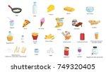 vegetarian and vegan food item... | Shutterstock .eps vector #749320405