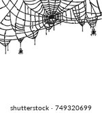 spider and web isolated on... | Shutterstock .eps vector #749320699